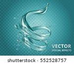 Dynamic aqua elements, special editable effect for design in 3d illustration | Shutterstock vector #552528757