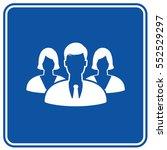 teamwork icon design clean... | Shutterstock .eps vector #552529297