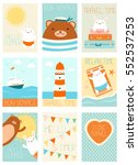 collection of travel banner ... | Shutterstock .eps vector #552537253