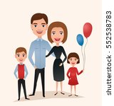happy family couple with... | Shutterstock .eps vector #552538783
