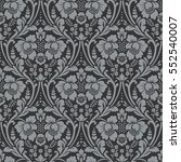 vector seamless floral pattern... | Shutterstock .eps vector #552540007
