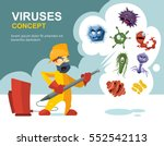anti germs  microbes vector... | Shutterstock .eps vector #552542113