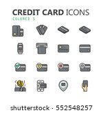 simple modern set of credit... | Shutterstock .eps vector #552548257