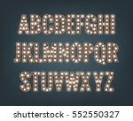 alphabet with light bulbs.... | Shutterstock .eps vector #552550327