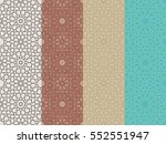 seamless islamic moroccan... | Shutterstock .eps vector #552551947