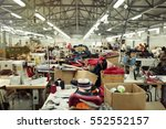 industrial busy sewing workplace | Shutterstock . vector #552552157