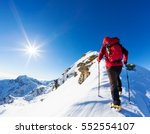 extreme winter sports  climber... | Shutterstock . vector #552554107