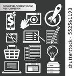 seo development icon set clean...