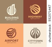 building logo template design... | Shutterstock .eps vector #552571447