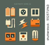 vector icon electricity | Shutterstock .eps vector #552571963