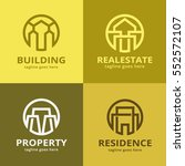 abstract property logo template ... | Shutterstock .eps vector #552572107