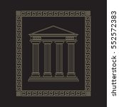 isolated classical antique... | Shutterstock .eps vector #552572383
