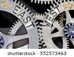 macro photo of tooth wheel... | Shutterstock . vector #552573463