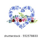 love concept. heart and flowers.... | Shutterstock . vector #552578833