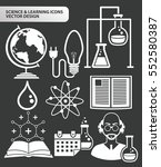 science and leaning icon set... | Shutterstock .eps vector #552580387