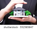 property insurance and real... | Shutterstock . vector #552585847