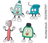 vector set of tooth care set | Shutterstock .eps vector #552590797