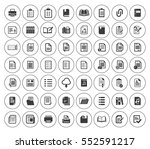 file and folder icons set | Shutterstock .eps vector #552591217