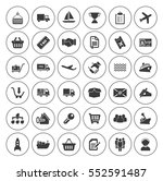 shipping icons set | Shutterstock .eps vector #552591487