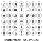building icons set | Shutterstock .eps vector #552593023