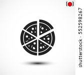 pizza vector icon | Shutterstock .eps vector #552598267