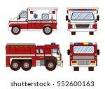 ambulance. transport  rescue ... | Shutterstock .eps vector #552600163