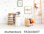 child room with toy bags and... | Shutterstock . vector #552610657
