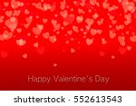valentine background beautiful... | Shutterstock . vector #552613543