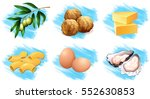 different types of food... | Shutterstock .eps vector #552630853