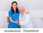 elderly patient starting to
