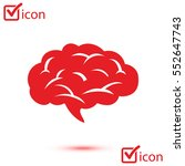 brain icon. human intelligent... | Shutterstock .eps vector #552647743