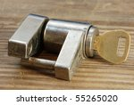 Used And Rusty Trailer Lock...