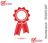 badge with ribbons icon. award ... | Shutterstock .eps vector #552651187