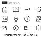 gui elements line vector icons... | Shutterstock .eps vector #552655357