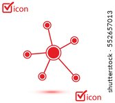social network single icon.... | Shutterstock .eps vector #552657013