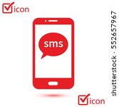 smartphone email or sms icon.... | Shutterstock .eps vector #552657967