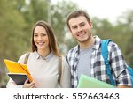 two students posing looking at... | Shutterstock . vector #552663463