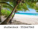 beautiful white sand beach wiht ... | Shutterstock . vector #552667063