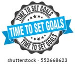 time to set goals. stamp.... | Shutterstock .eps vector #552668623
