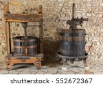 old wine press. traditional old ...