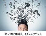 close up of an african american ... | Shutterstock . vector #552679477