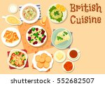 british cuisine breakfast... | Shutterstock .eps vector #552682507