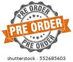 pre order. stamp. sticker. seal.... | Shutterstock .eps vector #552685603
