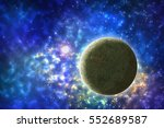 starry sky and planets. space... | Shutterstock . vector #552689587