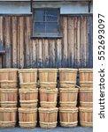 stacks of traditional wooden...   Shutterstock . vector #552693097