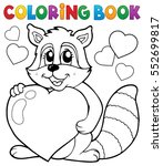 coloring book valentine topic 3 ... | Shutterstock .eps vector #552699817