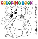 coloring book valentine topic 1 ... | Shutterstock .eps vector #552699853