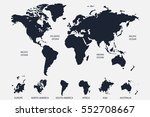 blue  world map vector on white ... | Shutterstock .eps vector #552708667