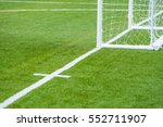 artificial turf of soccer... | Shutterstock . vector #552711907