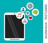 smartphone wireless technology... | Shutterstock .eps vector #552713683